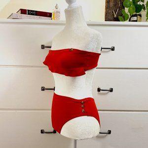 BNWT Topshop Bikini + Red + Size 4/6